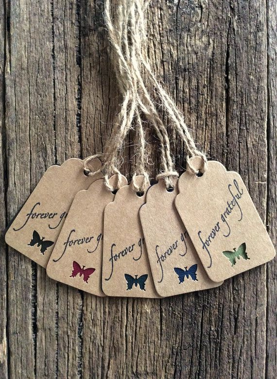 Handmade Tags Gift tags Wrapping tags Thank you tags by Crafting Emotion $5.00AUD