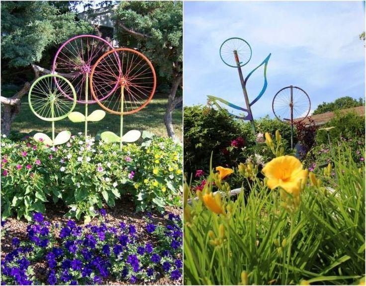 Les 25 meilleures id es concernant d corations de v lo sur pinterest vier de v los et - Decoration jardin avec des pneus ...