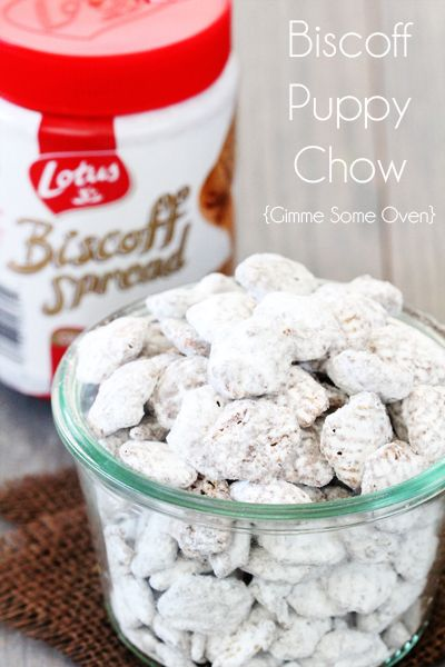 Biscoff Puppy Chow - peanut free! {Gimme Some Oven}