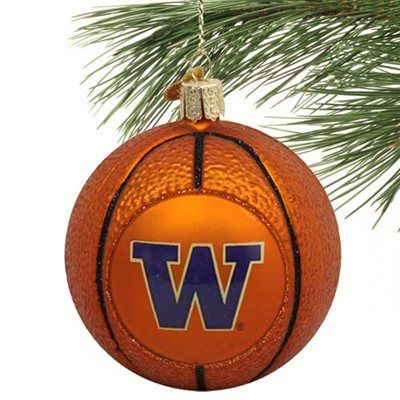 Washington Huskies Basketball   Washington Huskies Glass Basketball Ornament - UW Husky   University ...