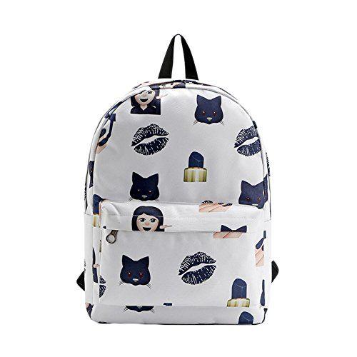Saymequeen Cute Emoji Backpack for Women Book Bag Travel ...…
