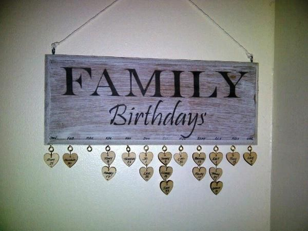 Creative Family Birthday Board Idea - I always have best of intentions of remembering - but then I forget!!!!!!!!