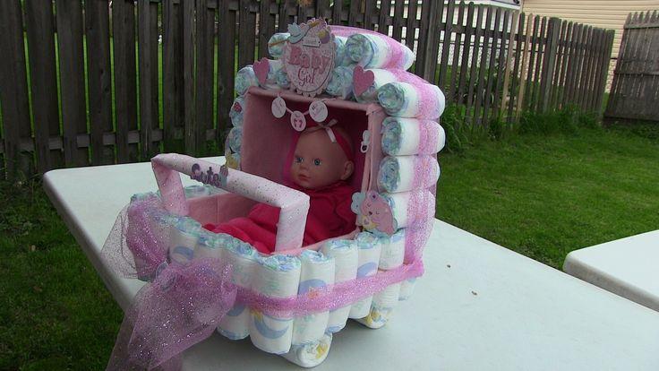 Como hacer una carriola de pa ales para baby shower for Como hacer una pileta de fibra