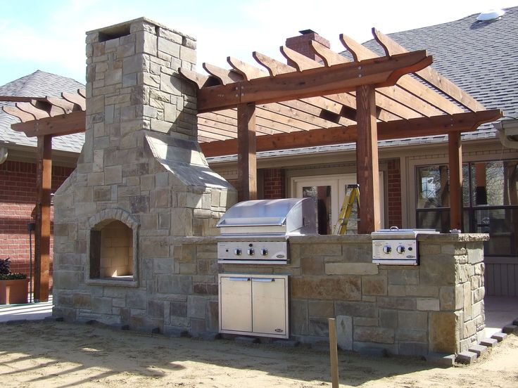 Outdoor Kitchen Fireplace Combo Home Is Where The Heart Is