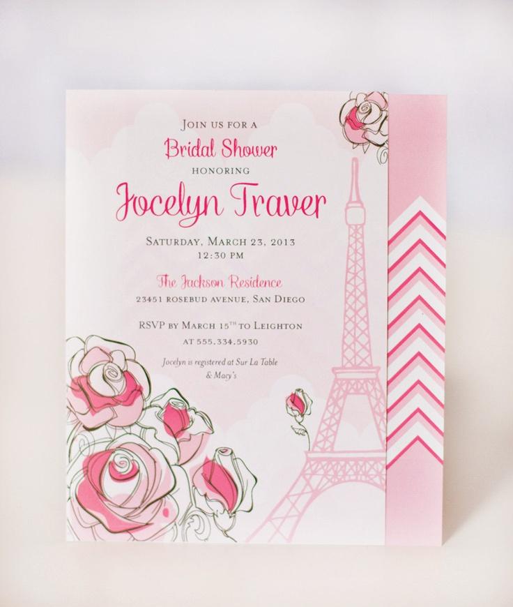 blank beach bridal shower invitations%0A Paris Bridal shower