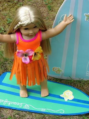 American Girl Doll Play: Making Surf Boards for our Dolls!