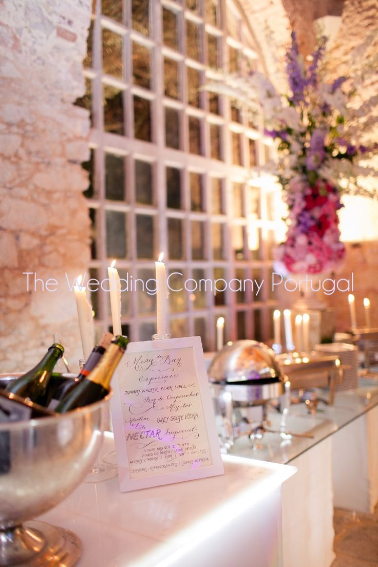 Special Bar Menu in Calligraphy by The Wedding Company - Portugal.   Photo by Catarina Zimbarra Photography