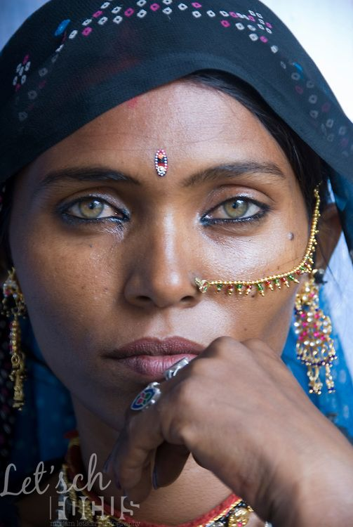 Indian Woman In Black Saree: Papu, A Bhopa Woman From The Thar Desert In Rajasthan