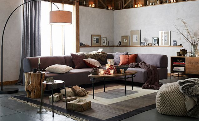 I Love The West Elm Rustic Refined Living Room On