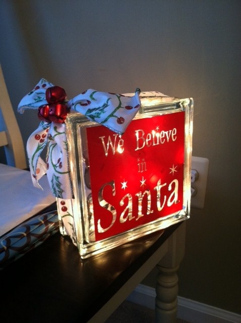 Glass box from AC Moore with christmas lights, easy, fast & fun DIY project