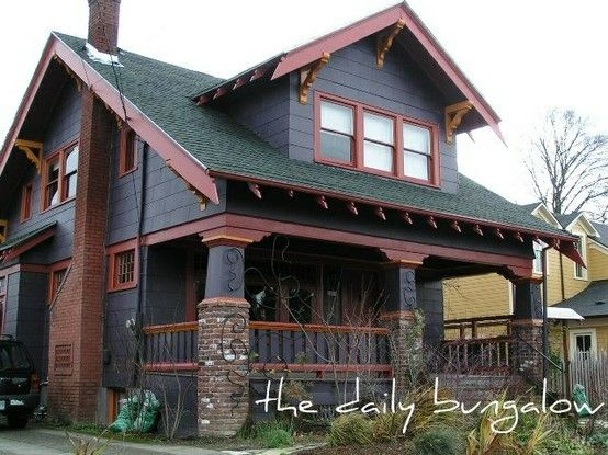 17 best exterior painted brick images on pinterest bricks house exteriors and blue grey - Hunter green exterior paint paint ...