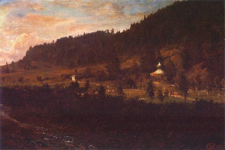 A mountain landscape (Krajobraz podgórski) - Wojciech Gerson 1882