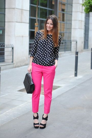 pink pants and polka dots? this has me written all over it