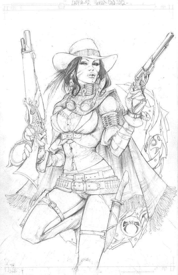 Here's the original line art for Andy Bohn's