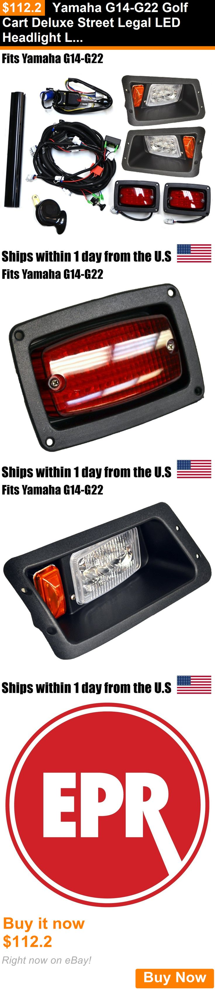 Push-Pull Golf Cart Parts 181154: Yamaha G14-G22 Golf Cart Deluxe Street Legal Led Headlight Led Tail Light Kit BUY IT NOW ONLY: $112.2