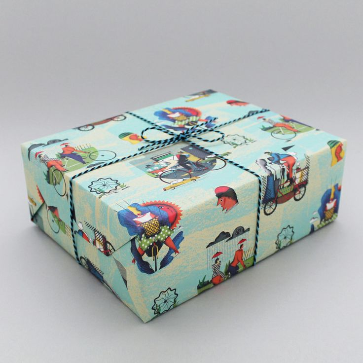 WOW, what a talented fellow Adam Avery is. Here's his cycling wrapping paper for Wrap. What a corker!