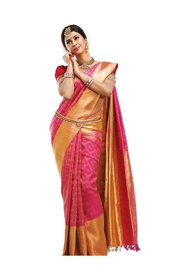 Bridals, Silk, Sarees, PSR, Bridals Saree , Kanjivaram Silk Saree - Fine Zari - Gold Colour , Length - 5.4 mts, Border Width - 5 in, Blouse - 70 cms , Korvai , Dry Clean , Bridal , Multi