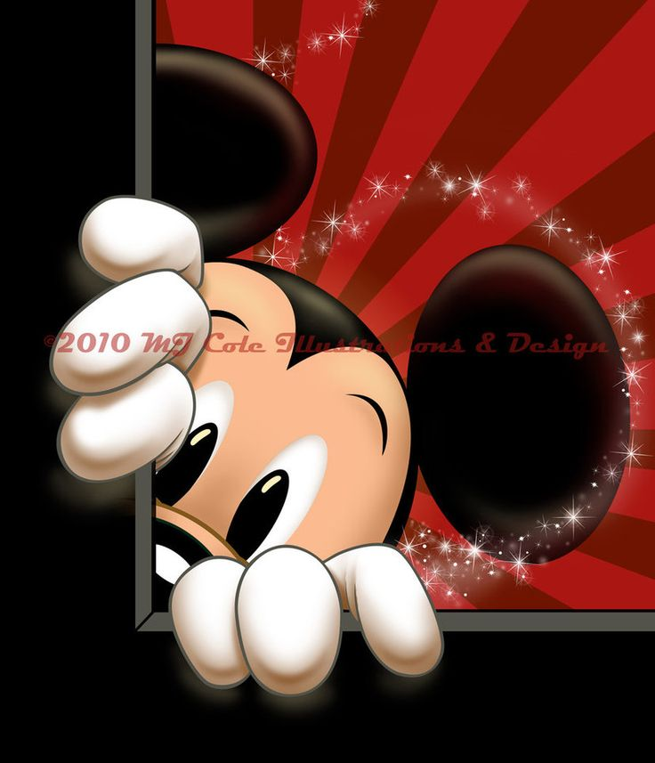 Peek-a-boo Mickey by mjcole on DeviantArt