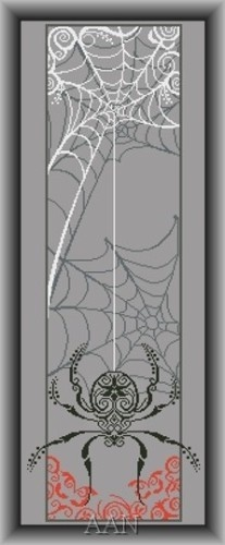 SPIDER BANNER - Counted Cross Stitch Pattern