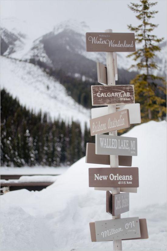 winter wonderland sign #winterwedding #weddingsigns #weddingchicks http://www.weddingchicks.com/2014/03/06/whimsical-winter-wedding/