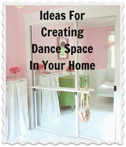 Creating Dance Space at Home - I totally wanted to do this growing up!!!