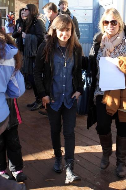 Ellen Page spotted at the Sundance Film Festival in Park City, Utah.