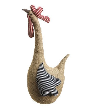Look what I found on #zulily! Brown Burlap Rooster Statue #zulilyfinds