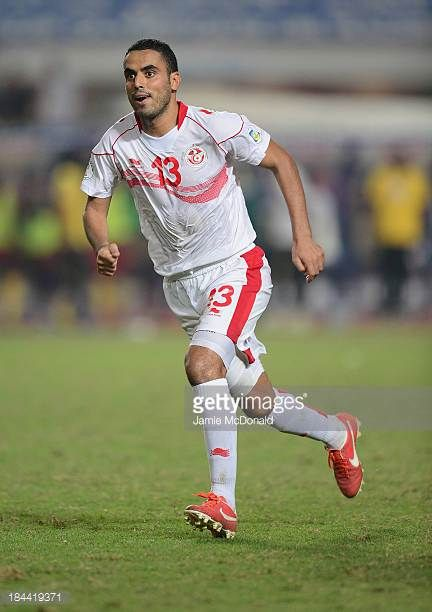 Yahia Ouissem Ben of Tunisia in action during the FIFA 2014 World Cup qualifier at the Stade Olympique de Radès on October 13 2013 in Rades Tunisia