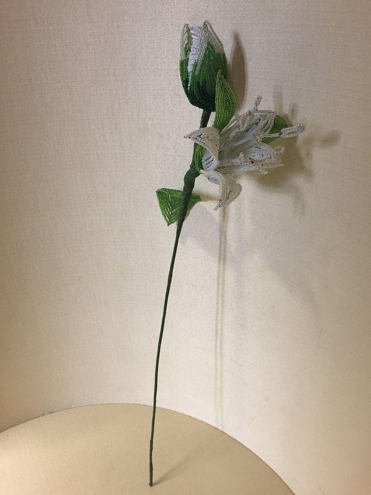 fiori in vetro - fiori di perline - perline minute - perle antiche - old glass beads - glass flowers - beaded flowers - glass beads flowers di Sanmarcoartedesign su Etsy