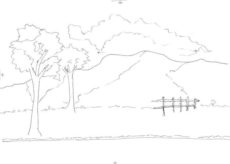 Dibujos de paisajes a lapiz faciles de hacer - Imagui