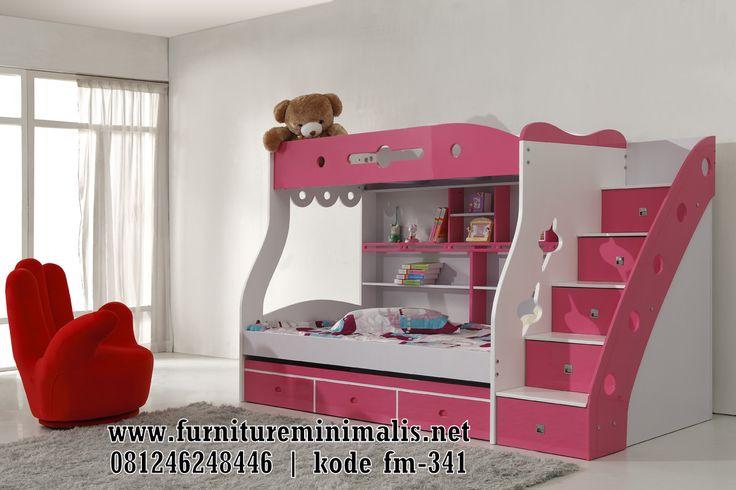 Tempat Tidur Anak Minimalis Tingkat Tangga Murah Terbaru 2017 - Furniture Minimalis Jepara
