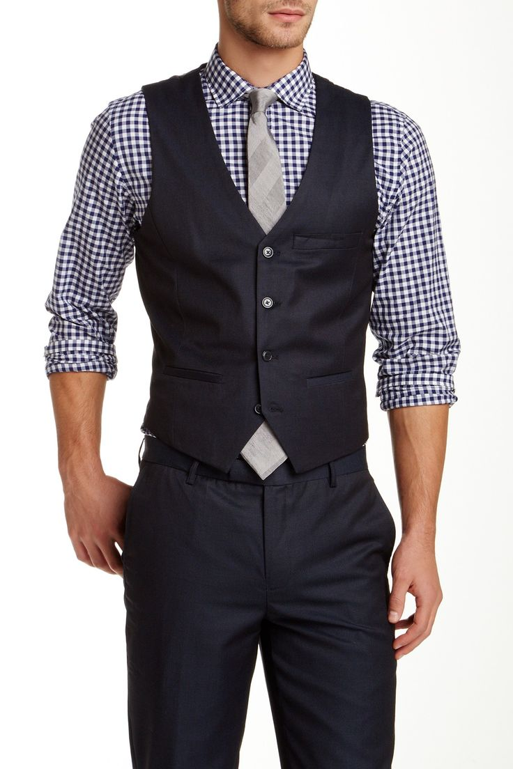 Edge by WD.NY Ink Sharkskin Suit Separates Vest by Edge by WDNY Suits on @nordstrom_rack