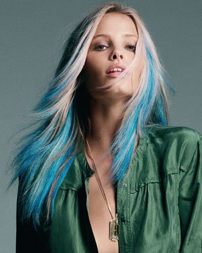 blonde-blue-hair; I'm so doing this one day!
