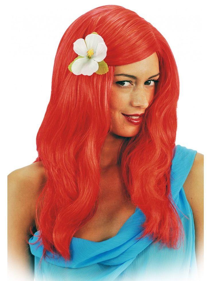 Anche tu puoi essere per una notte un'affascinate sirena dai capelli rossi! PARRUCCA SIRENETTA ADULTA. #festeinpiaggia