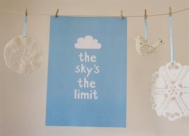The Sky's the Limit. A4 print. Design Sara Vestberg.