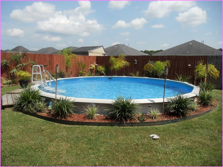 17 best images about pools on pinterest above ground for Above ground pool border ideas