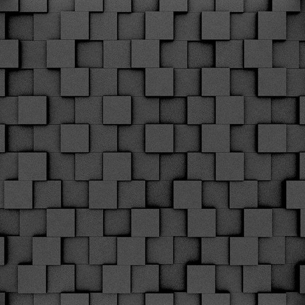 Fluffo, Fabryka Miękkich Ścian. Miękkie panele ścienne 3D, wzór PIXEL, opcje ułożenia.