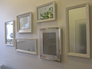 Gizele's opp shop frames, now a family of mirrors