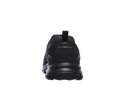 Skechers Men's Track Bucolo Memory Foam Lace Up Jogger Shoes (Black/Black)
