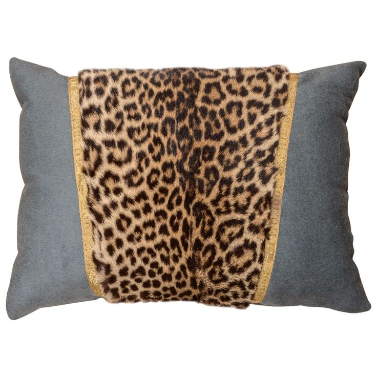 Leopard Pillow | From a unique collection of antique and modern pillows and throws at https://www.1stdibs.com/furniture/more-furniture-collectibles/pillows-throws/