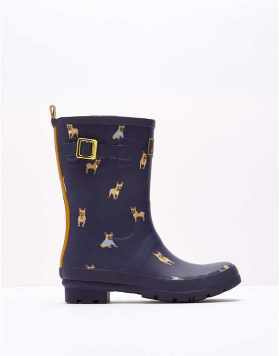 Joules: Mollywelly Womens Mid Height Welly. Fall outfit. Rain boots. See more pictures >>> http://bit.ly/1Pv5AF1