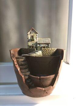 Negozio Online 1 pz/set resina vaso di fiori per le piante succulente vaso di fiori microlandschaft macetas paesaggio pentola gaeden decorazione saksi fioriera | Aliexpress mobile