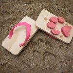 Animal Track wooden sandals from Kiko+Ashiato make tracks as you walk. So cute!