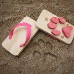 Animal Track wooden sandals from Kiko+Ashiato make tracks as you walk. So cute!