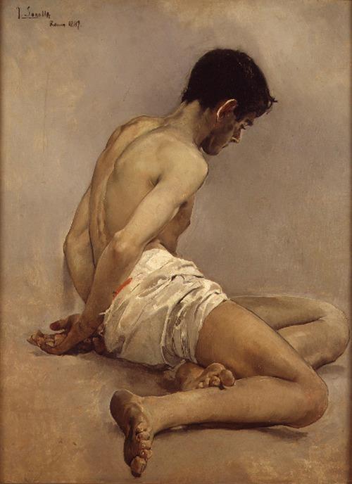 Academia del natural (1887). Joaquin Sorolla y Bastida. Oil on canvas. Spain, Valencia-Museo de Bellas Artes