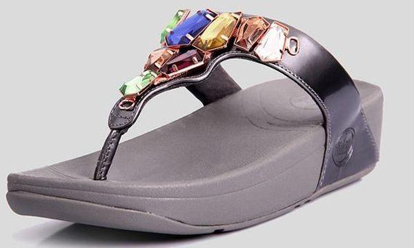 Womens Fitflop Diamante Stylish Grey Sandals