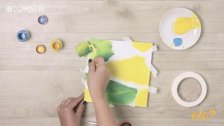 ¿Cómo hacer un cuadro de pintura geométrica? #DIYMINUTO