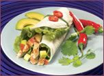 Chicken and Avocado Wrap Cooked on Barbecue