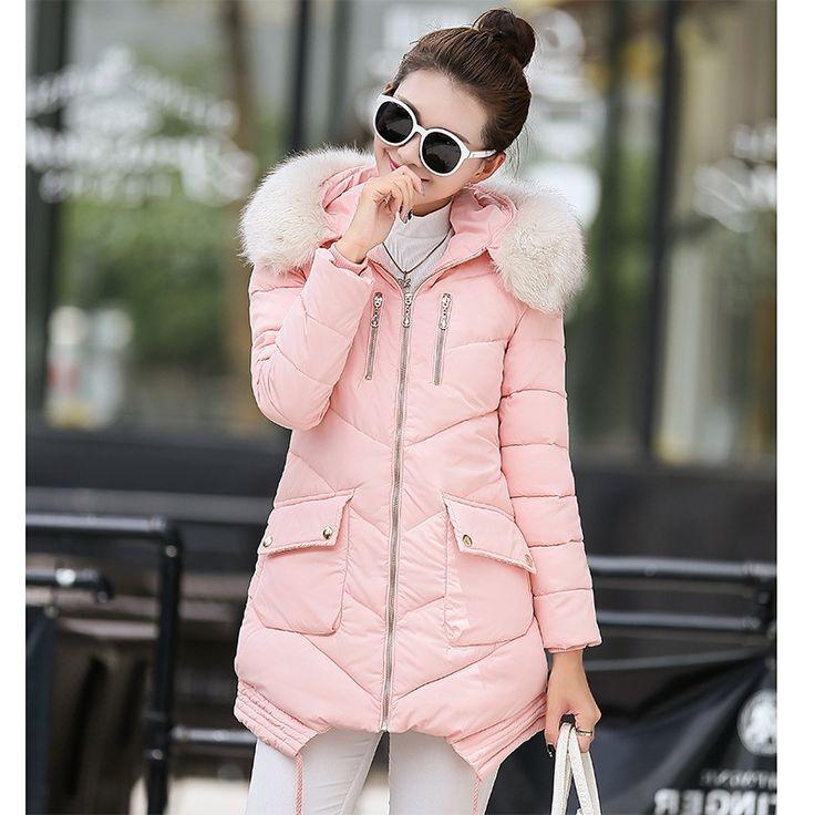 28.49$  Buy here - https://alitems.com/g/1e8d114494b01f4c715516525dc3e8/?i=5&ulp=https%3A%2F%2Fwww.aliexpress.com%2Fitem%2FMISHUAI-Winter-Jacket-Women-Large-Fur-Collar-Hooded-Jacket-Thick-Coat-For-Women-Outwear-Parka-Coats%2F32741628403.html - MISHUAI Winter Jacket Women Large Fur Collar Hooded Jacket Thick Coat For Women Outwear Parka Coats casacos de inverno feminino
