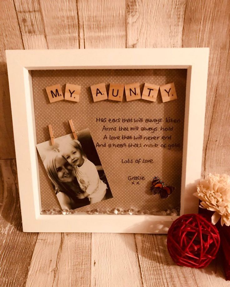 Personalised frame for Auntie / personalised Auntie gift , Special Auntie gift